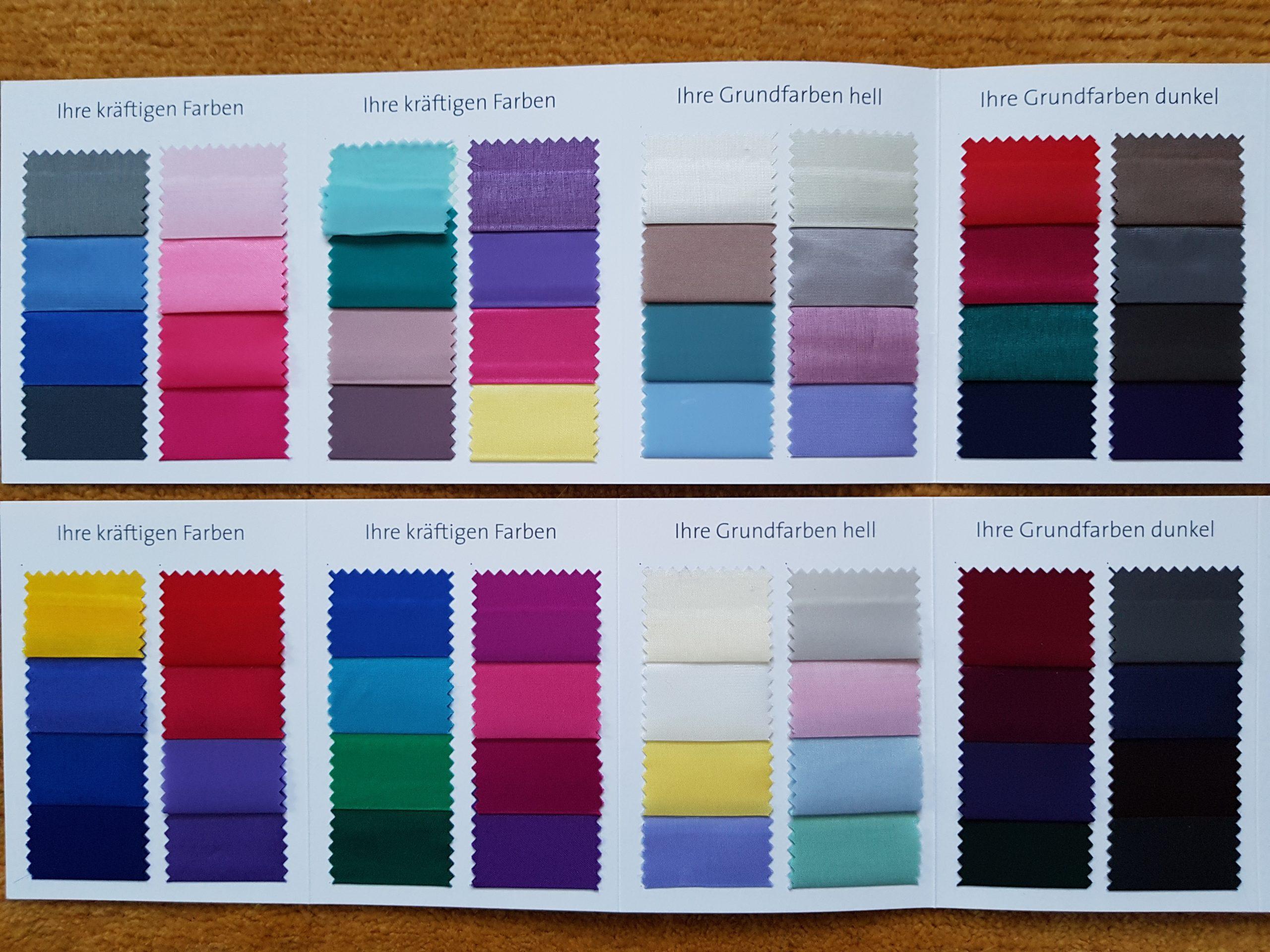 Wie Sie Ihre Garderobe geschickt kombinieren können mittels eines Farbkonzeptes.